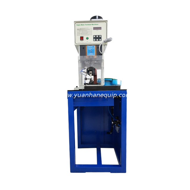 Loose Piece Terminals Crimping Machine With Vibration Plate Feeding