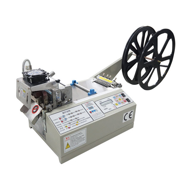 Cold and Hot Knife Fabric Tape Cutting Machine