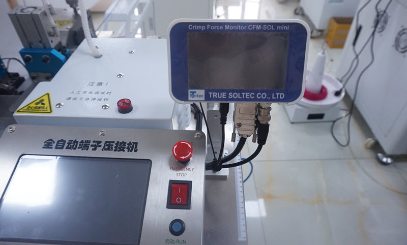 Fully Automatic Wire and Cable Crimping Machine Co-working with Crimp Force Monitor