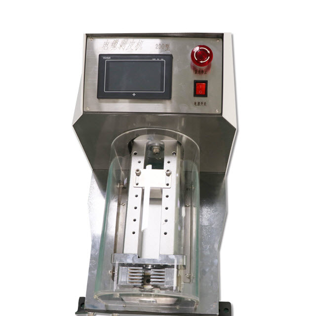 Pneumatic Large Battery Cable Jacket Stripping Machine