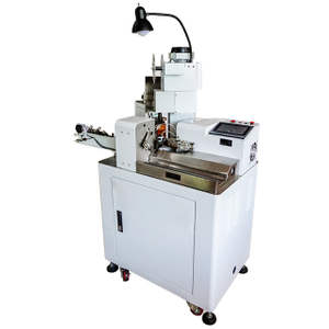 Twin Parallel Wires Stripping and Crimping Machine