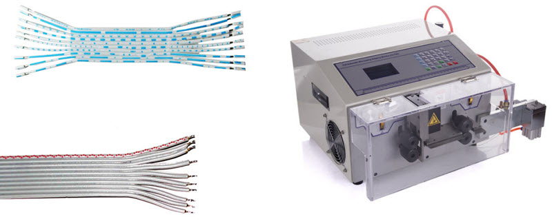 flat cable cut strip split machine